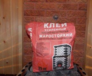 Клей для облицовки печей