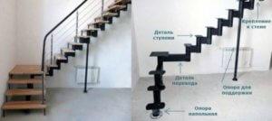 Сборка модульной лестницы