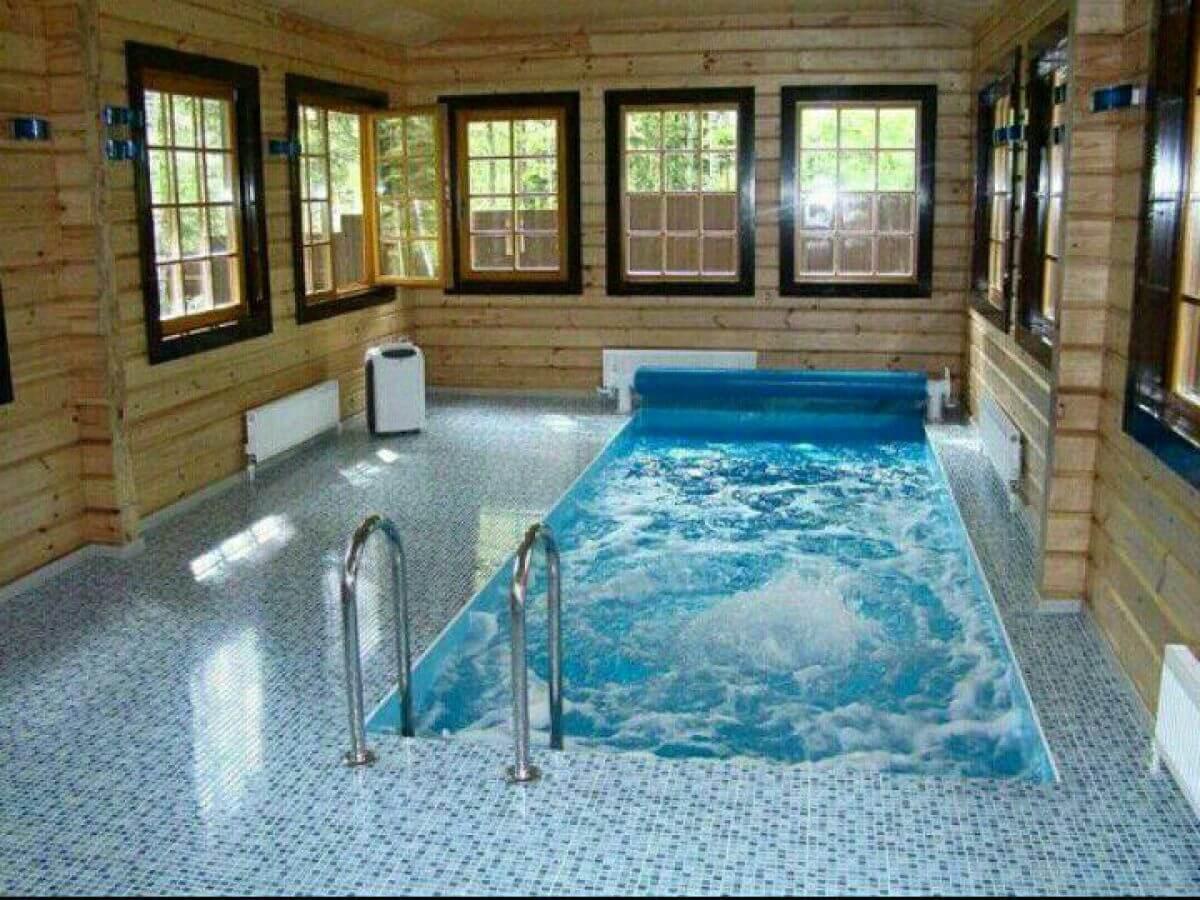 Как построить баню своими руками с бассейном