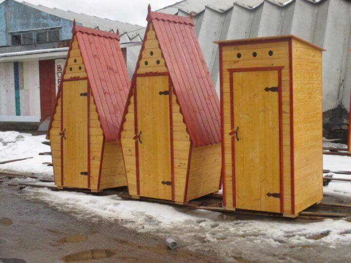 Размеры дачных туалетов
