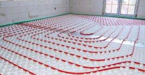 Теплый водяной пол на подложке с бобышками