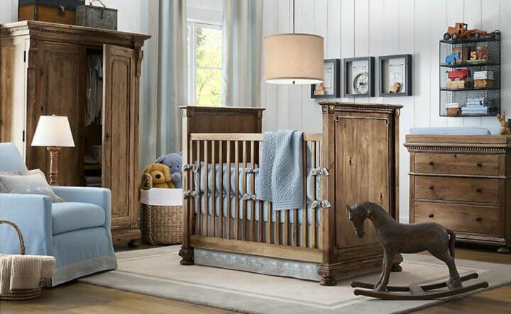 Интерьер для новорожденного мальчика в стиле Кантри