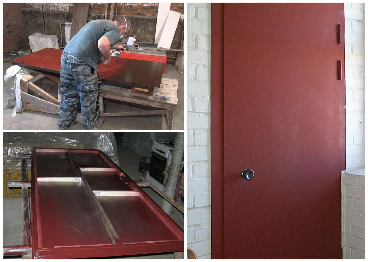Как сделать двери из железа 86