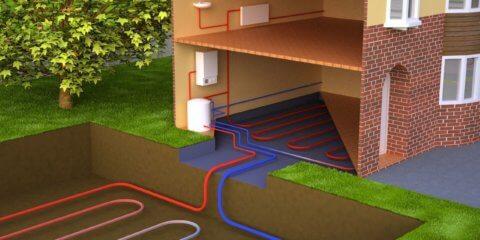 Система отопления с применением геотермальных насосов