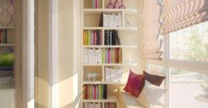 Стеллаж под книги на балконе