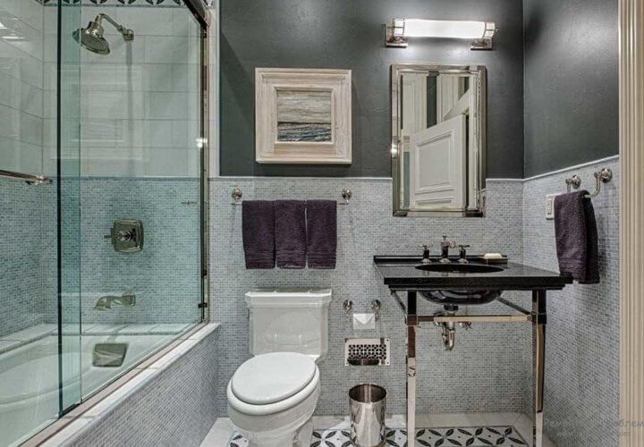 Штуткатурка в ванной комнате