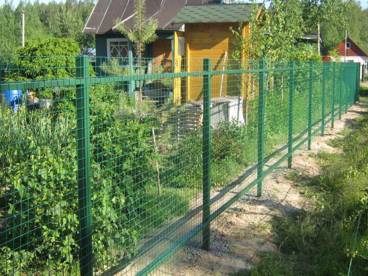 Дачный забор из сварной сетки