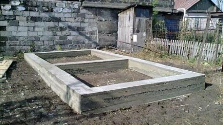 Ленточный фундамент для сарая из пеноблоков