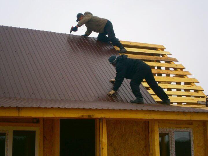 Угол наклона крыши из профнастила