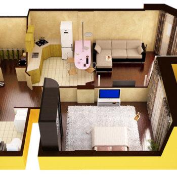 Интересные идеи для интерьера однокомнатной квартиры
