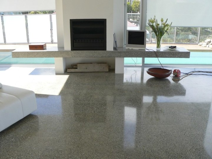 Пол из полированного бетона