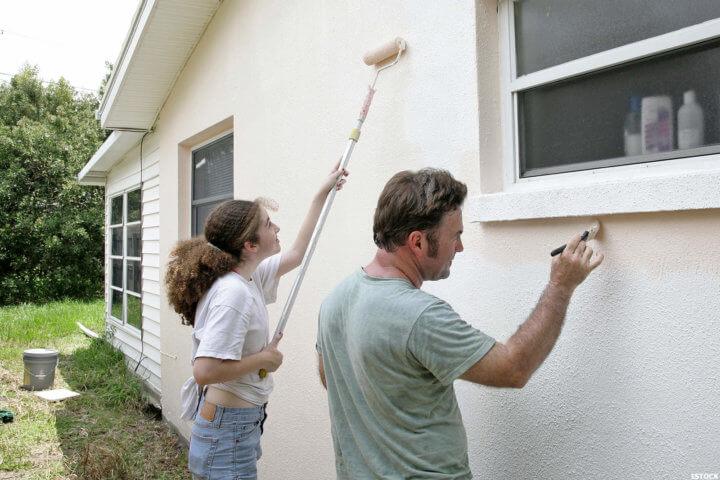 Наружная покраска стен