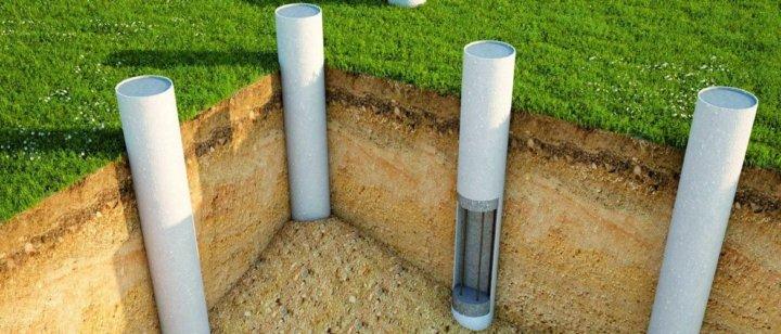 Столбчатый фундамент из асбестоцементной трубы