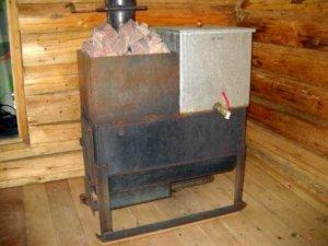 Сварная печь в бане
