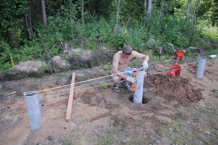 Столбчатый фундамент из асбоцементных труб своими руками 36