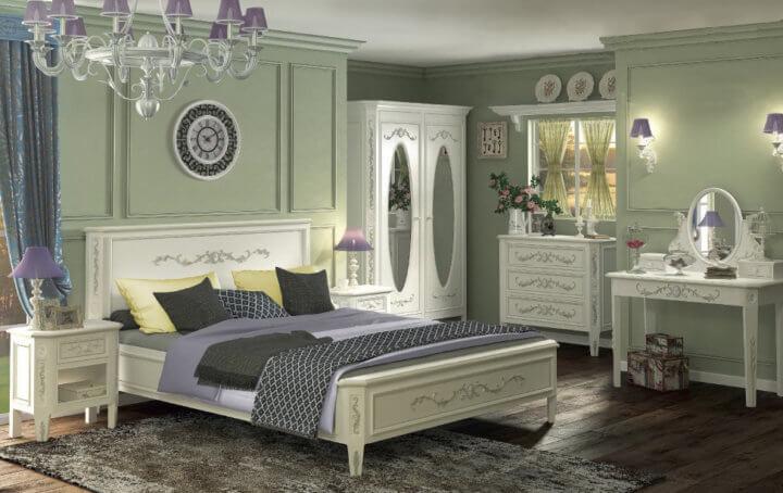 Шкаф с овальными зеркалами