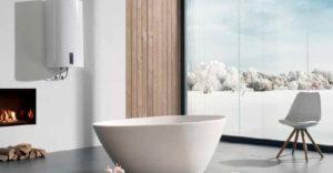 Водонагреватель в интерьере ванной