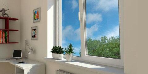 Окно с подоконником
