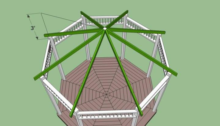 Восьмиугольная крыша для беседки