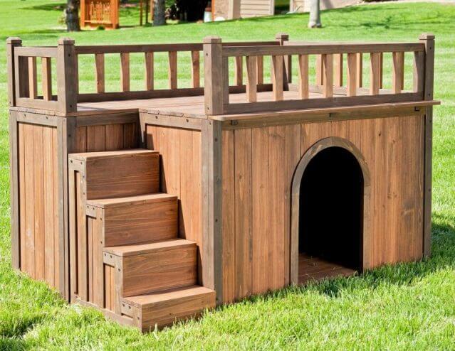 Деревянная будка для немецкой овчарки