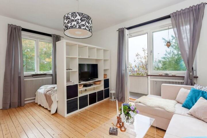 Зонирование помещения при помощи мебели