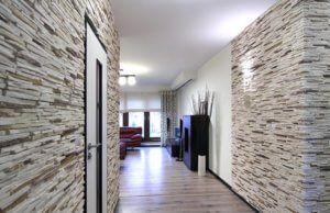 отделка стен гипсовой плиткой