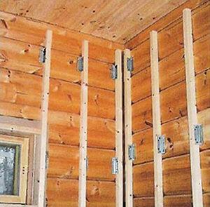 Крепление гипсокартона к деревянным стенам