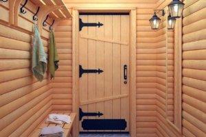 Деревянные двери для парилки