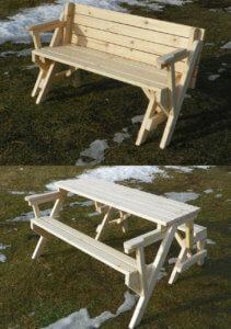 Мебель из дерева для дачи и сада