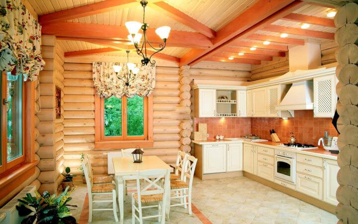 Цветовая гамма для деревянной кухни