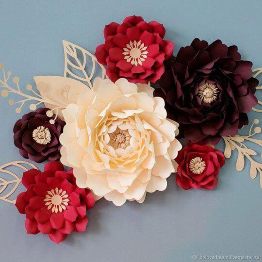 цветы на праздник из бумаги
