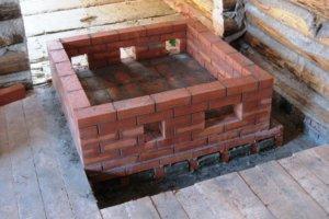 Фундамент под металлическую банную печь