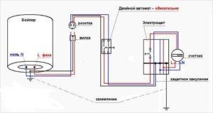 Подключение к электрической цепи