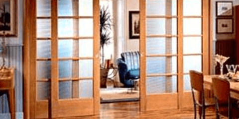 Раздвижная конструкция дверей