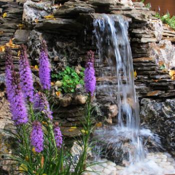 Ландшафтный дизайн своими руками — излив для водопада