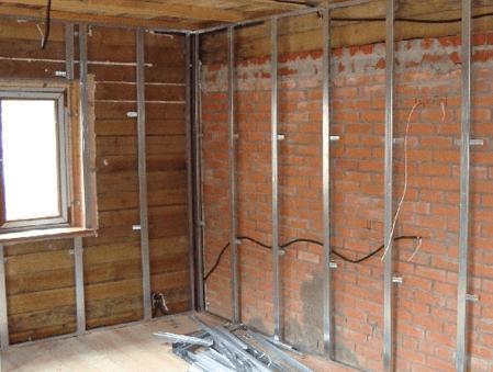 Обшивка стен гипсокартоном в деревянном доме – особенности проведения процедуры