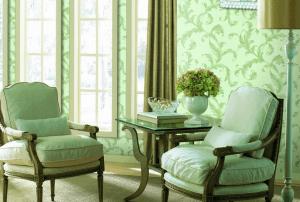 Благородная зелень в гостиной