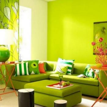 Сочетание зеленого цвета с другими цветами: варианты оформления интерьера