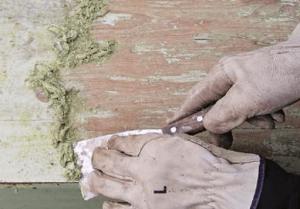 Снятие краски шпатеоем