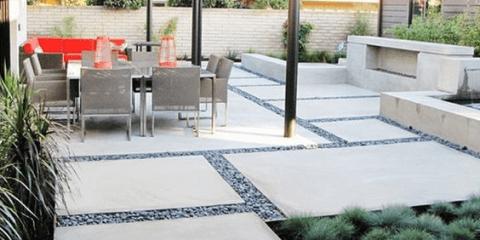 Бетонный двор в садовом дизайне
