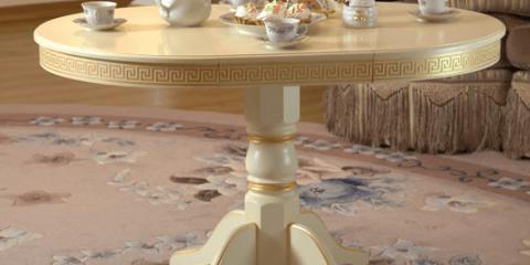 Раздвижной стол на одной опоре
