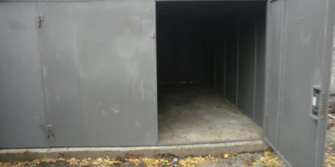 Металлический гараж на монолитном фундаменте