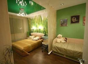 Разделение маленькой комнаты на взрослую и детскую зоны