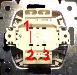 Три соединения в проходном выключателе