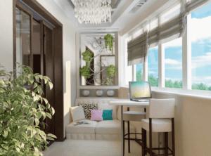Дизайн утепленного балкона