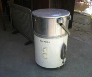 Старая стиральная машинка подойдет для бетономешалки