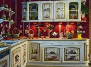 Декупаж кухонных шкафов