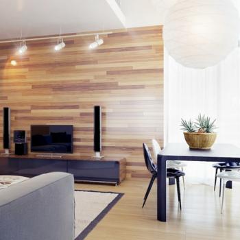 Используя крепление ламината на стену, усовершенствуем интерьер комнаты