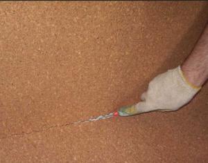 Монтаж пробкового утеплителя на стены и пол