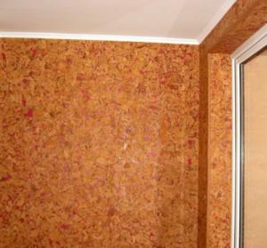 Пробковое покрытие на стенах